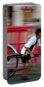 Japanese Tourists Ride Rickshaw In Tokyo Japan Portable Battery Charger