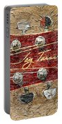 Jay Turser Guitar Head - Red Guitar - Digital Painting Portable Battery Charger by Barbara Griffin