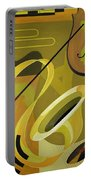 Jazz Portable Battery Charger by Carolyn Hubbard-Ford