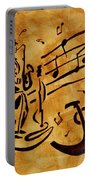 Jazz Coffee Painting Portable Battery Charger