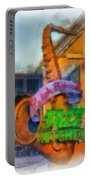 Jazz Kitchen Signage Downtown Disneyland Photo Art 01 Portable Battery Charger