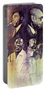 Jazz Legends Parker Gillespie Armstrong  Portable Battery Charger