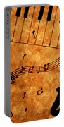 Jazz Music Coffee Painting Portable Battery Charger