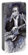 Jazz Saxophonist John Coltrane Black Portable Battery Charger