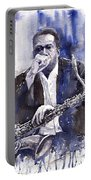 Jazz Saxophonist John Coltrane Blue Portable Battery Charger