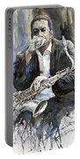 Jazz Saxophonist John Coltrane Yellow Portable Battery Charger