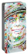Jean Renoir Watercolor Portrait Portable Battery Charger