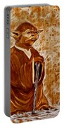 Jedi Master Yoda Digital From Original Coffee Painting Portable Battery Charger