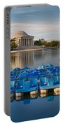 Jefferson Memorial And Paddle Boats Portable Battery Charger