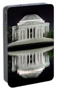 Jefferson Memorial - Night Reflection Portable Battery Charger