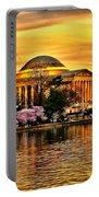 Jefferson Memorial Sunset Portable Battery Charger