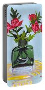 Jeff's Vase And Rodger's Roses Portable Battery Charger