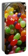Jelly Beans Spilling Out Of Glass Jar Portable Battery Charger