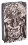 Jerry Garcia . . Magic Is What We Do - Music Is How We Do It Portable Battery Charger
