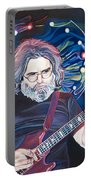 Jerry Garcia And Lights Portable Battery Charger