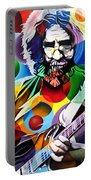 Jerry Garcia In Bubbles Portable Battery Charger