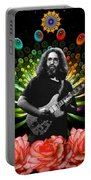 Jerry Spacepods Triple Jerry Ufo Roses Under Cosmic Sun Portable Battery Charger