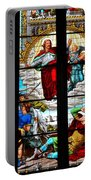 Jesus Angels Stained Glass Painting Inside Cologne Cathedral Germany Portable Battery Charger
