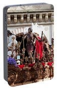 Jesus Christ And Roman Soldiers On Procession Portable Battery Charger
