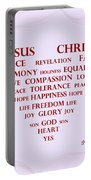 Jesus Christ Message Portable Battery Charger by Georgeta  Blanaru