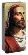 Jesus Christ Portable Battery Charger by Munir Alawi