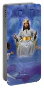 Jesus Enthroned Portable Battery Charger by Tamer and Cindy Elsharouni