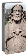 Jesus In Granite Portable Battery Charger