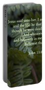 Jesus Is The Resurrection And The Life Portable Battery Charger