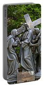 Jesus Meets His Mother Portable Battery Charger