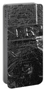 Jesus On The Cross Metal Sculpture Portable Battery Charger