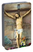 Jesus Statue At Latin Church In Taybeh Portable Battery Charger