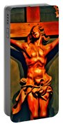 Jesus Statue Of Notre Dame Portable Battery Charger