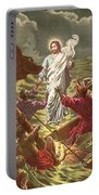 Jesus Walking On The Water Portable Battery Charger