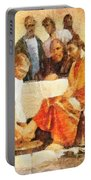 Jesus Washing Apostle's Feet Portable Battery Charger