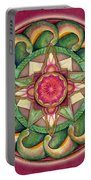 Jewel Of The Heart Mandala Portable Battery Charger