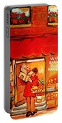 Jewish Culture In Montreal Paintings Of Warshaw's Fruit Store On St.lawrence Street Scene Art  Portable Battery Charger