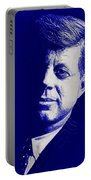 Jfk - Blue Portable Battery Charger