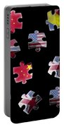 Jigsaw Puzzle Flag Pieces Portable Battery Charger