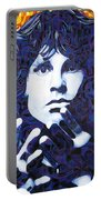 Jim Morrison Chuck Close Style Portable Battery Charger