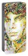 Jim Morrison Watercolor Portrait.2 Portable Battery Charger