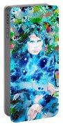 Jim Morrison Watercolor Portrait.3 Portable Battery Charger