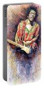 Jimi Hendrix 09 Portable Battery Charger