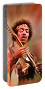 Jimi Hendrix Electrifying Guitar Play Portable Battery Charger