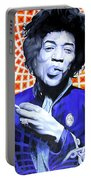 Jimi Hendrix Orange And Blue Portable Battery Charger