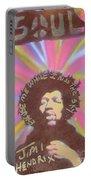 Jimi Hendrix Pastel Portable Battery Charger