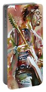 Jimi Hendrix Playing The Guitar Portrait.3 Portable Battery Charger
