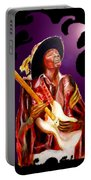 Jimi Hendrix Variations In Purple And Black Portable Battery Charger