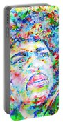 Jimi Hendrix  - Watercolor Portrait.3 Portable Battery Charger