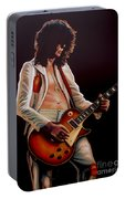 Jimmy Page In Led Zeppelin Painting Portable Battery Charger