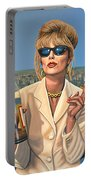 Joanna Lumley As Patsy Stone Portable Battery Charger